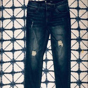 KUT-Catherine Boyfriend Dark Wash Jeans
